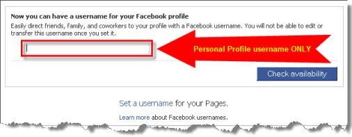 facebook custom username, facebook custom url