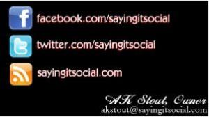 AK Stout Saying It Social Business Card Example