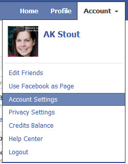 Accesing Facebook Account Settings