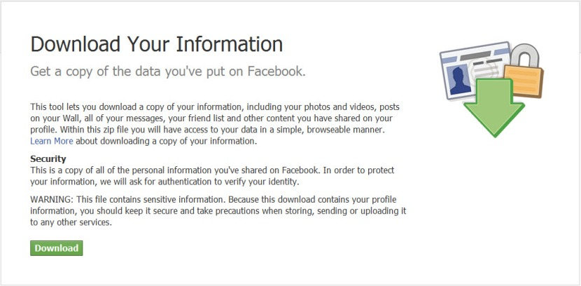 Downloading Information from Facebook